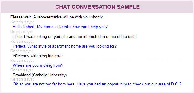 An Example of How Online Chat Can Increase Opportunity for Lease Conversion